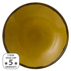 """Dudson Harvest Mustard Coupe Plate 12.75"""" / 32.4cm"""