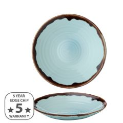 """Dudson Harvest Turquoise Organic Coupe Bowl 8.125"""" / 21cm"""