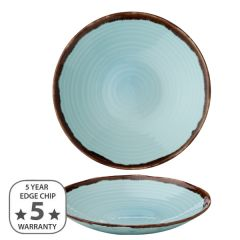 """Dudson Harvest Turquoise Organic Coupe Bowl 9.75"""" / 25cm"""