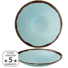"""Dudson Harvest Turquoise Organic Coupe Bowl 11"""" / 28cm"""