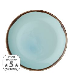 """Dudson Harvest Turquoise Coupe Plate 10.25"""" / 26cm"""