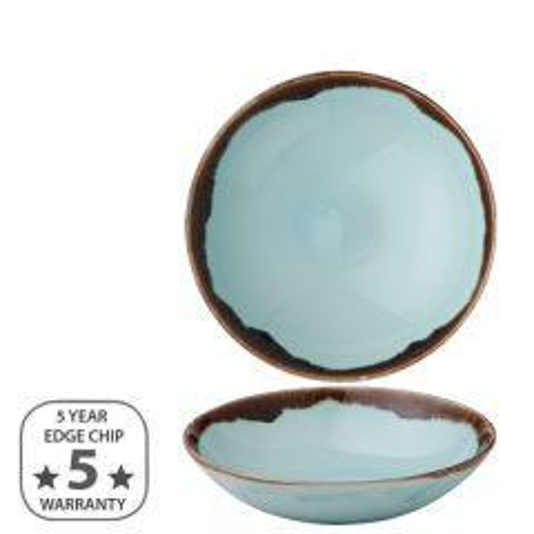"Dudson Harvest Turquoise Coupe Bowl 7.25"" / 18.2cm"