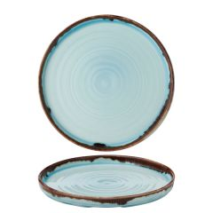 """Dudson Harvest Turquoise Walled Plate 8.25"""" / 21cm"""