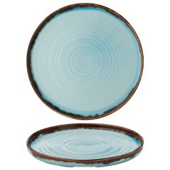 """Dudson Harvest Turquoise Walled Plate 10.25"""" / 26cm"""
