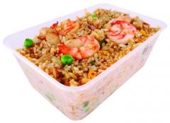 Microwave Safe Clear Takeaway Container with Snap On Lid 500ml