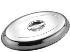 """Stainless Steel Oval Vegetable Dish Cover 20"""" / 51cm"""