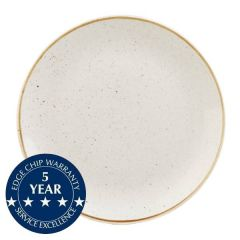 """Churchill Stonecast Barley White Coupe Plate 11.25"""" / 28.8cm"""