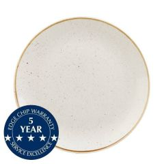 """Churchill Stonecast Barley White Coupe Plate 10.25"""" / 26cm"""