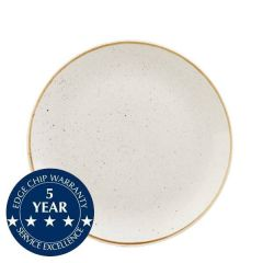 """Churchill Stonecast Barley White Coupe Plate 8.66"""" / 21.7cm"""