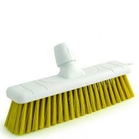 "Yellow Stiff Bristle Sweeping Brush Head 11"" / 28cm"