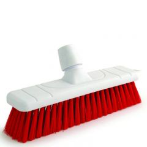 "Red Soft Bristle Sweeping Brush Head 11"" / 28cm"