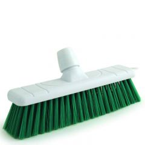 "Green Soft Bristle Sweeping Brush Head 11"" / 28cm"