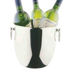 "Elia Three Bottle Wine Bucket Stainless Steel 8.75"" / 22cm"