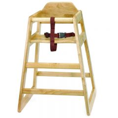 Wooden High Chair Stackable Natural Colour (Supplied Unassembled)
