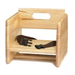 Child Booster Seat in Natural Wood