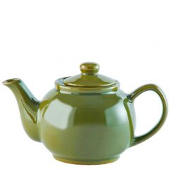 Price & Kensington Gloss Bright Olive Green Teapot 2 Cup 16oz / 45cl
