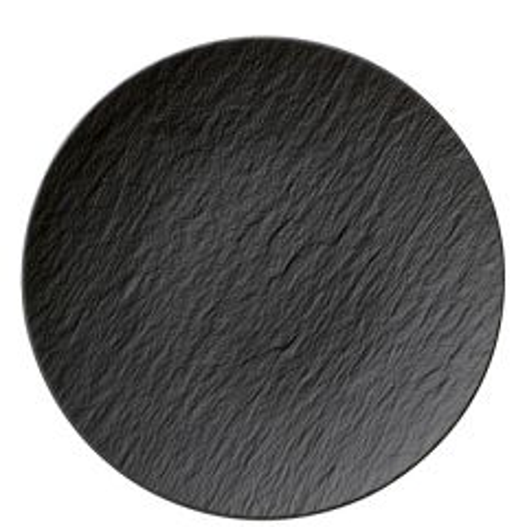 "Villeroy & Boch The Rock Black Shale Flat Coupe Plate 11.25"" / 29cm"