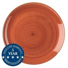 "Churchill Stonecast Spiced Orange Coupe Plate 11.25"" / 28.8cm"