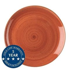 "Churchill Stonecast Spiced Orange Coupe Plate 10.25"" / 26cm"
