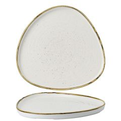 """Churchill Stonecast Barley White Chefs' Triangle Walled Plate 10.25"""" / 26cm"""