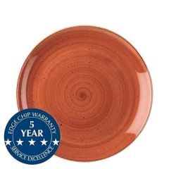 "Churchill Stonecast Spiced Orange Coupe Plate 8.66"" / 21.7cm"