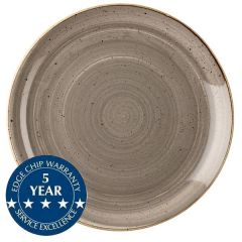 "Churchill Stonecast Peppercorn Grey Coupe Plate 11.25"" / 28.8cm"