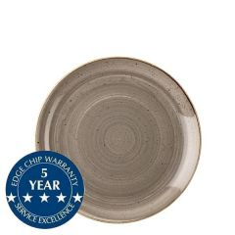 "Churchill Stonecast Peppercorn Grey Coupe Plate 6.5"" / 16.5cm"