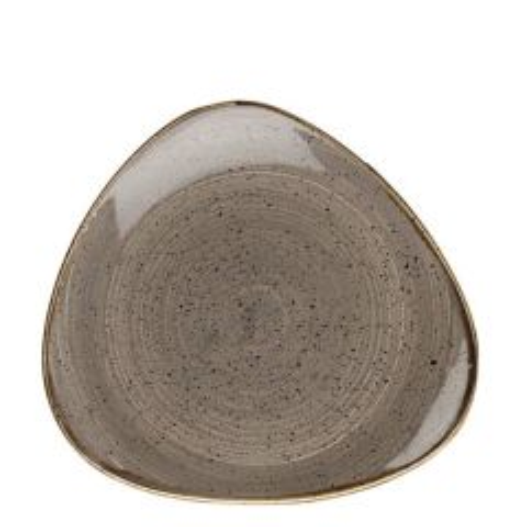 "Churchill Stonecast Peppercorn Grey Triangle Plate 9"" / 22.9cm"