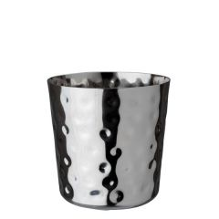 "Stainless Steel Hammered Serving Cup 3.3"" /8.5cm"