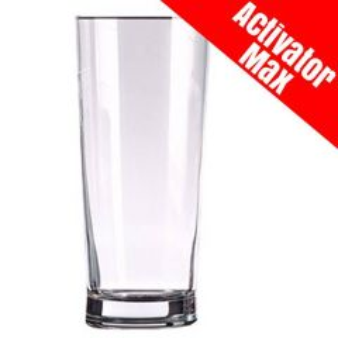 Toughened Senator Pint Beer Glass Activator Max CE 20oz / 57cl