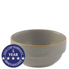 Churchill Stonecast Peppercorn Grey Stacking Bowl 12.75oz / 36cl
