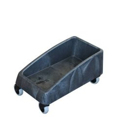 Grey Single Dolly for Transporting 60 & 87Ltr Slim Jim Bins
