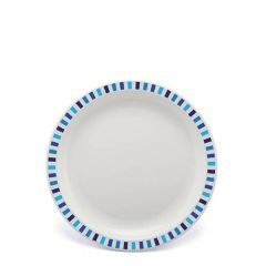 """Harfield Stripes Blue Patterned Polycarbonate Plate 6.75"""" / 17cm"""