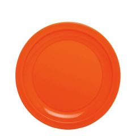 "Harfield Polycarbonate Plastic Narrow Rim Orange Plate 9"" / 23cm"