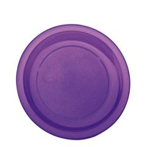 "Harfield Polycarbonate Plastic Narrow Rim Purple Sparkle Plate 9"" / 23cm"
