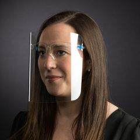 Reusable PET Plastic Glasses Style Face Shield / Visor