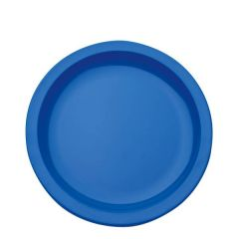 "Harfield Polycarbonate Plastic Narrow Rim Med Blue Plate 9"" / 23cm"