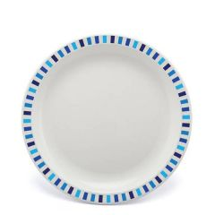 """Harfield Stripes Blue Patterned Polycarbonate Plate 9"""" / 23cm"""