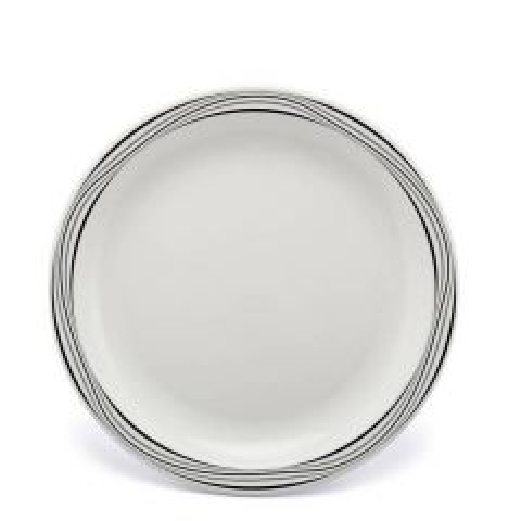 "Harfield Swirls Grey & Black Patterned Polycarbonate Plate 9"" / 23cm"