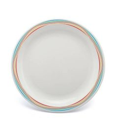 """Harfield Swirls Multi Coloured Patterned Polycarbonate Plate 9"""" / 23cm"""