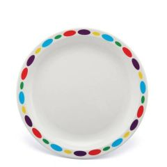 """Harfield Pebbles Patterned Polycarbonate Plate 9"""" / 23cm"""