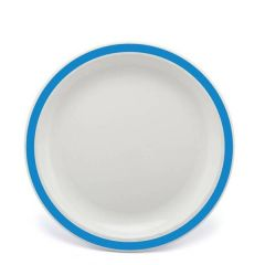 """Harfield Duo Med Blue Patterned Polycarbonate Plate 9"""" / 23cm"""