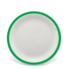 """Harfield Duo Emerald Green Patterned Polycarbonate Plate 9"""" / 23cm"""