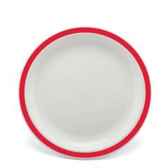 """Harfield Duo Red Patterned Polycarbonate Plate 9"""" / 23cm"""