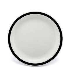 """Harfield Duo Black Patterned Polycarbonate Plate 9"""" / 23cm"""