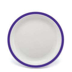 """Harfield Duo Purple Patterned Polycarbonate Plate 9"""" / 23cm"""