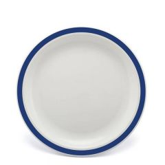"""Harfield Duo Royal Blue Patterned Polycarbonate Plate 9"""" / 23cm"""
