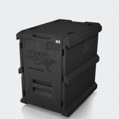KANGABOX 1/1 Gastronorm Black Tower Insulated Front Loading Box 8 Level 100 Ltr