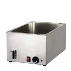 1/1 Gastronorm Sized Wet Well Bain Marie with Tap 340x540x250mm