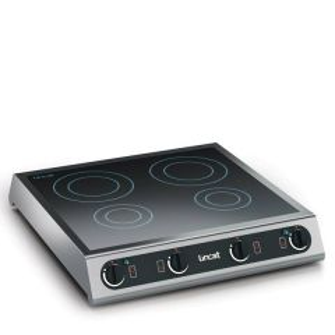 "Lincat Four Ring Hob Table Top Induction Hob 23.62x25.75x4.5""/600x654x115mm"